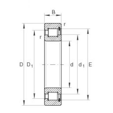 130 mm x 180 mm x 30 mm  INA SL182926 cylindrical roller bearings