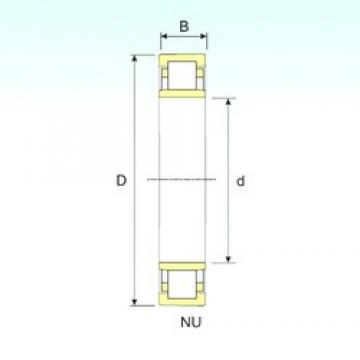 500 mm x 920 mm x 185 mm  ISB NU 12/500 cylindrical roller bearings