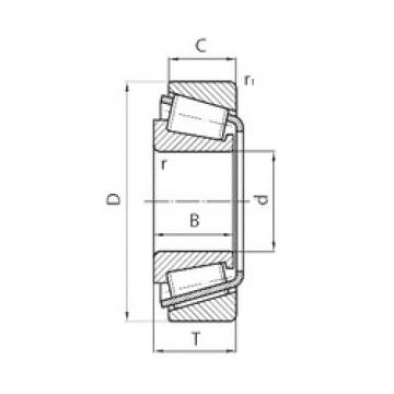 45 mm x 85 mm x 19 mm  CYSD 30209 tapered roller bearings